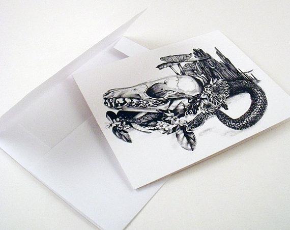skull & snake
