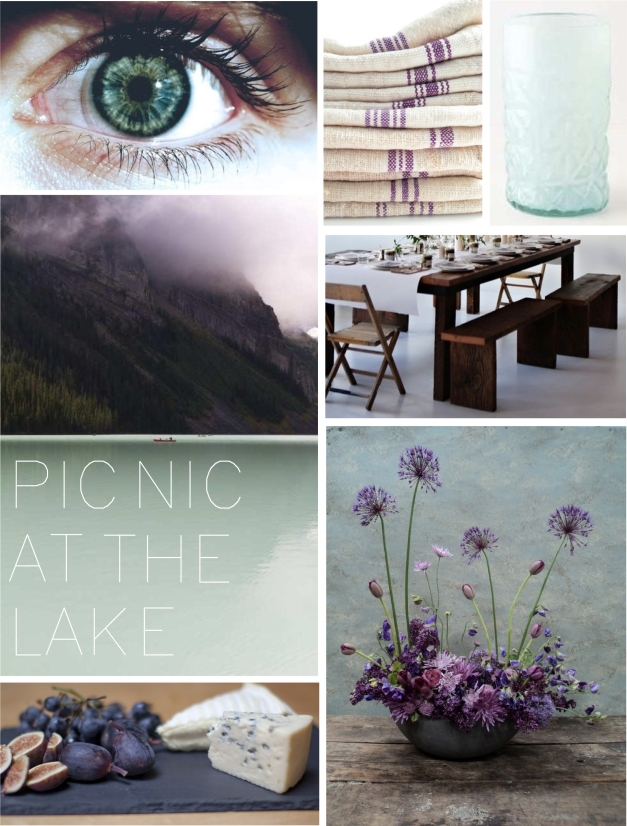 color story- PICNIC AT THE LAKE